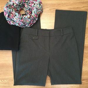 Ann Taylor Signature Charcoal Gray Trouser Pants